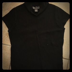 Chelsea and Theodore Black short sleeve sweater